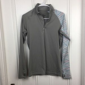 Nike Pro Gray Long Sleeve Cold Weather Run Top